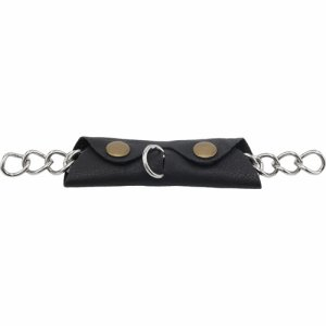 Curb chain guard leather