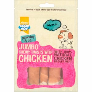 Jumbo Chewy Twists with Chicken 100 g