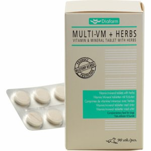 Vitamin/mineral tablets with herbs