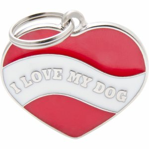 Tegn charms, heart I love my dog