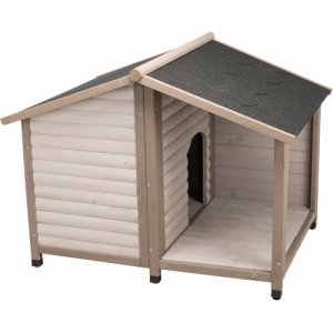natura Lodge dog kennel with saddle roof