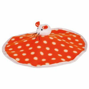 Rustling Mat with Plush Mouse, Fleece