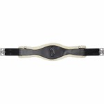 Dash leather girth w/ fur